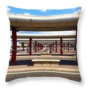 Roman Bus Stop Throw Pillow