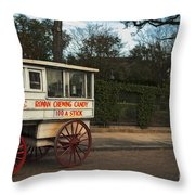 Roman Candy Wagon New Orleans Throw Pillow