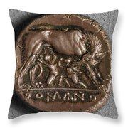 Roman Coin: Romulus Throw Pillow
