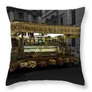 Roman Confectionary Cart Throw Pillow