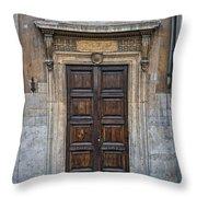 Roman Doors Throw Pillow