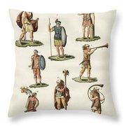Roman Foot Soldiers Throw Pillow by Splendid Art Prints