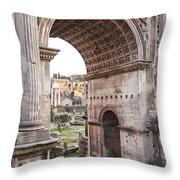 Roman Forum Arch Throw Pillow