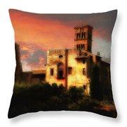 Roman Forum At Sunset Throw Pillow