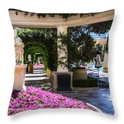 Roman Garden Throw Pillow
