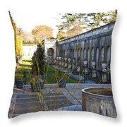 Roman Gardens In Fall Throw Pillow