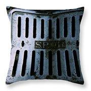 Roman Manhole Cover Throw Pillow