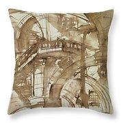 Roman Prison Throw Pillow