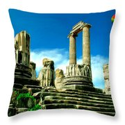 Roman Ruins From Above Throw Pillow