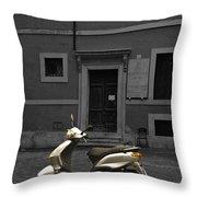 Roman Scooter Throw Pillow