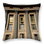 Roman Style Columns Throw Pillow