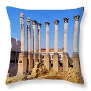 Roman Temple In Cordoba Throw Pillow