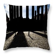 Roman Temple Silhouette Throw Pillow