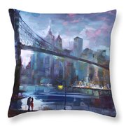 Romance By East River II Throw Pillow