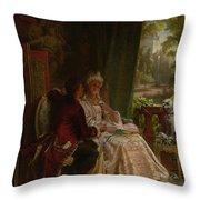 Romance Throw Pillow by Carl Herpfer