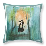 Romance In Blue Throw Pillow