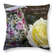 Romance Is The Dance Of Life Throw Pillow