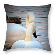 Romance Of The White Swans Throw Pillow