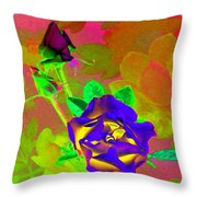 Romancing The Rose Throw Pillow