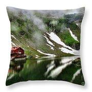 Romanian Glacier Lake Throw Pillow