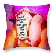 Romans 16 20 Throw Pillow