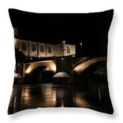 Romans Sur Isere Throw Pillow