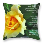 Romans Yellow Rose Throw Pillow