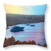Romantic Beach Throw Pillow