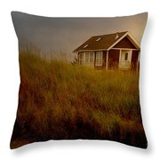 Romantic Beach Getaway Throw Pillow by Beverly Guilliams