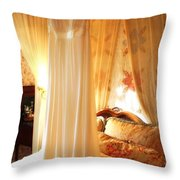 Romantic Bedroom Throw Pillow