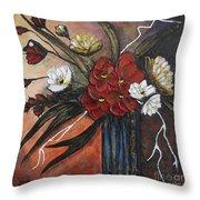Romantic Bouquet Throw Pillow