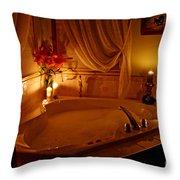 Romantic Bubble Bath Throw Pillow by Kay Novy
