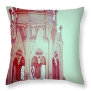 Romantic Cathedral Architectural Details Photograph Throw Pillow
