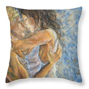 Romantic Cover Painting Throw Pillow
