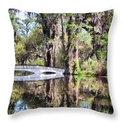 Romantic Garden Throw Pillow