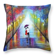 Romantic Interlude Throw Pillow