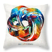 Romantic Love Art - The Love Knot - By Sharon Cummings Throw Pillow