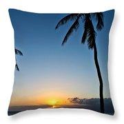Romantic Maui Sunset Throw Pillow