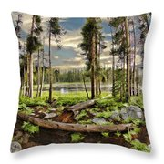 Romantic Meadow Throw Pillow