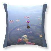 Romantic Pond Throw Pillow