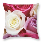 Romantic Rose Garden Throw Pillow