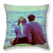 Romantic Seaside Moment Throw Pillow