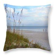 Romantic Secluded Beach Throw Pillow