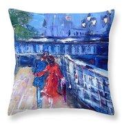 Romantic Stroll Dublin Ireland Throw Pillow