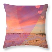 Romantic Sunset Throw Pillow by Augusta Stylianou