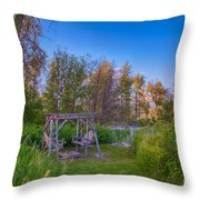 Romantic View By The Methow River Throw Pillow