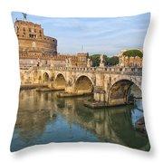 Rome Castel Sant Angelo 01 Throw Pillow