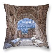 Rome Colosseum Interior 01 Throw Pillow