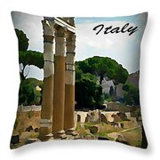 Rome Italy Poster Throw Pillow
