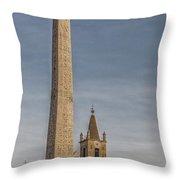 Rome Piazza Del Popolo 01 Throw Pillow
